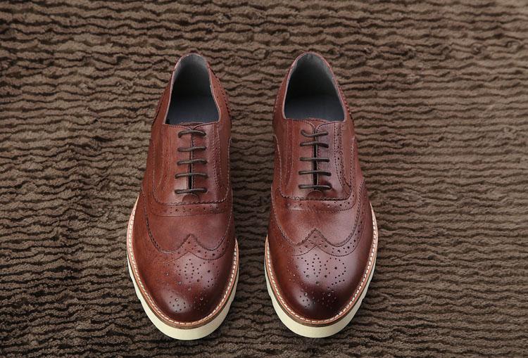 时尚休闲皮鞋英伦风复古