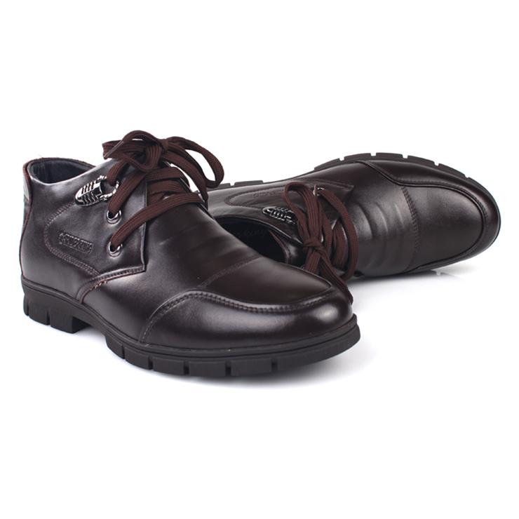 时尚运动休闲皮鞋系带男士棉鞋