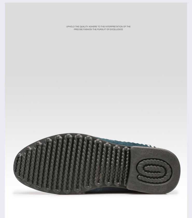 夏季新款 男士透气日常休闲皮鞋真皮运动