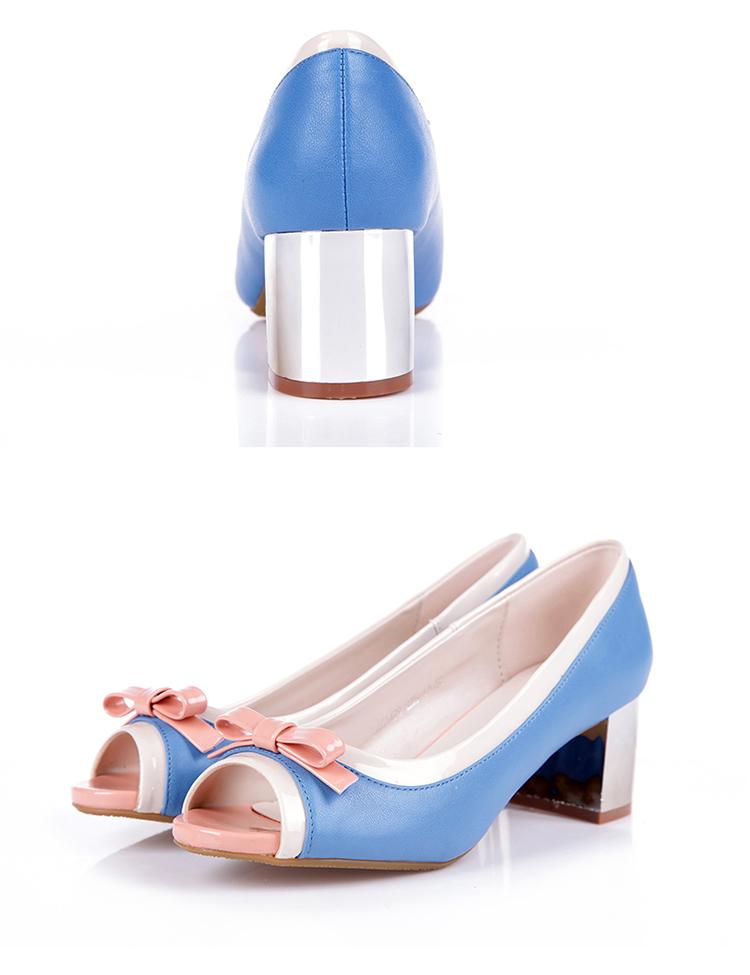 大东2014春季新款鱼嘴单鞋