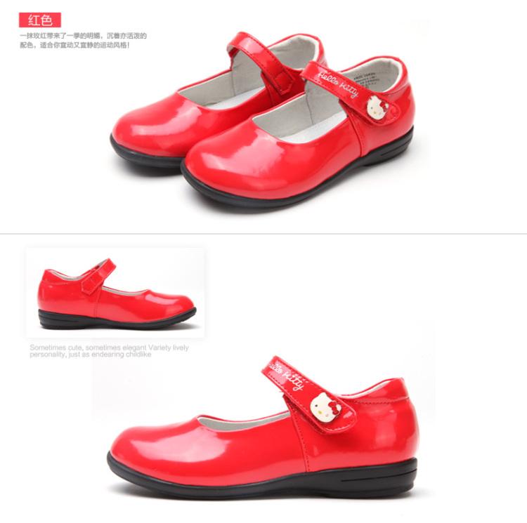 kitty儿童皮鞋童鞋2014春季新款休闲时尚女