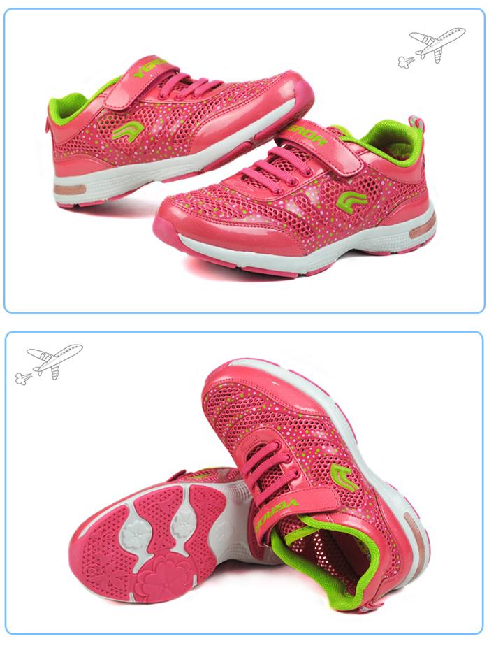 女童鞋网面透气运动鞋
