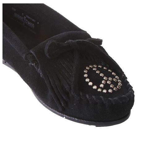 迷你唐卡 女款平底鞋 纯皮钉珠帆船鞋