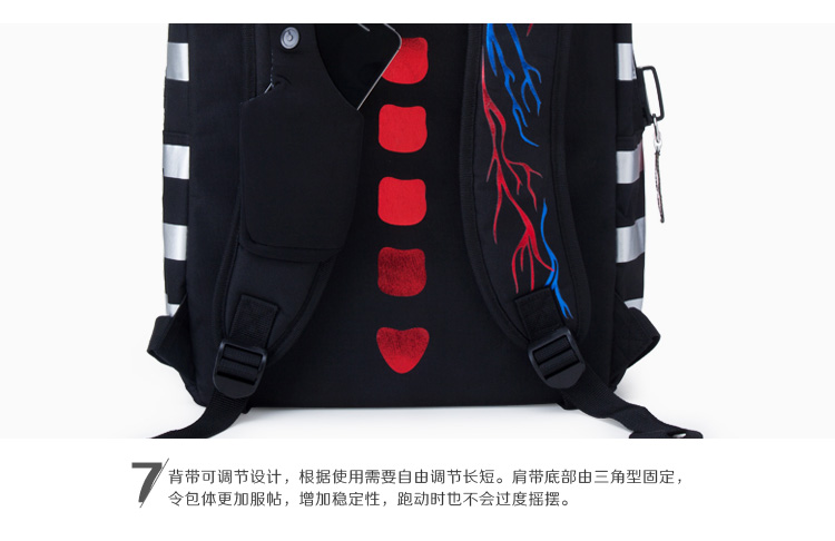 个性创意印花双肩背包