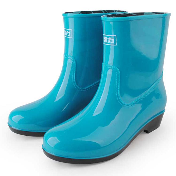 回力雨鞋女正品防水简约时尚短筒防滑雨靴套鞋纯色鞋