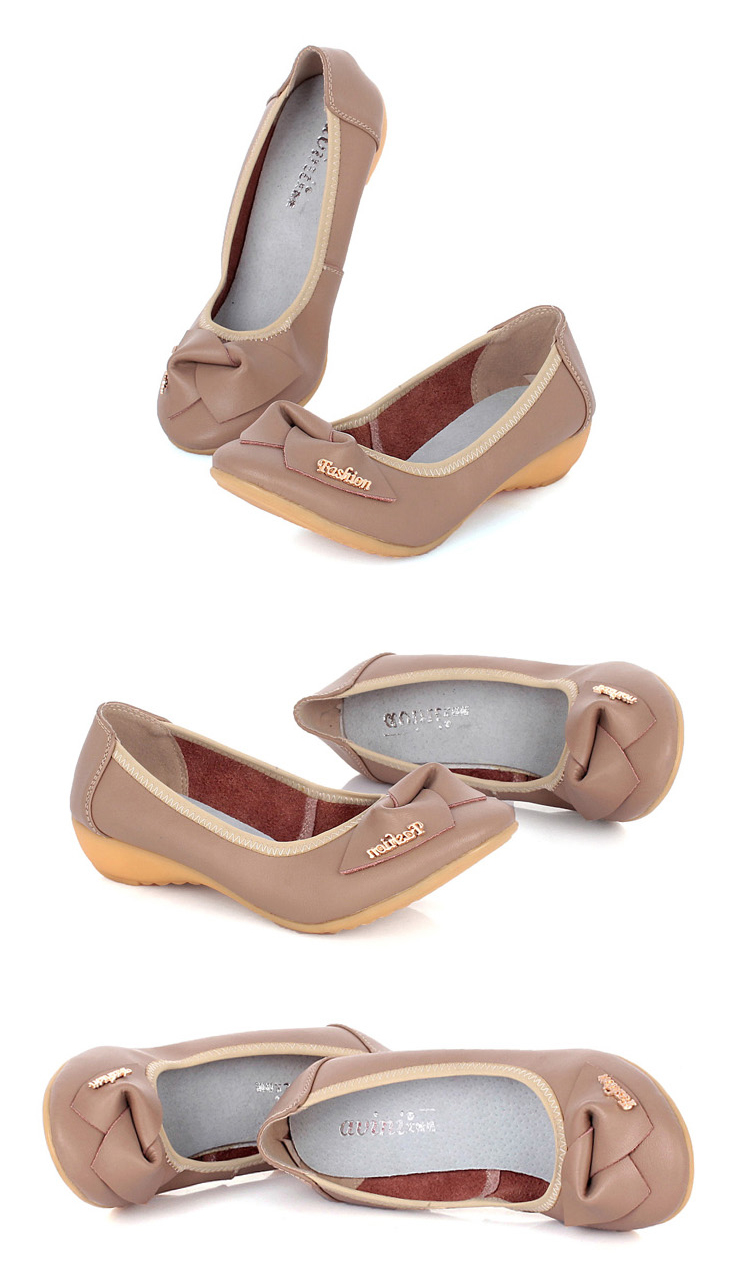 艾微妮(avini)春季时尚新款女鞋真皮浅口皮鞋女单鞋