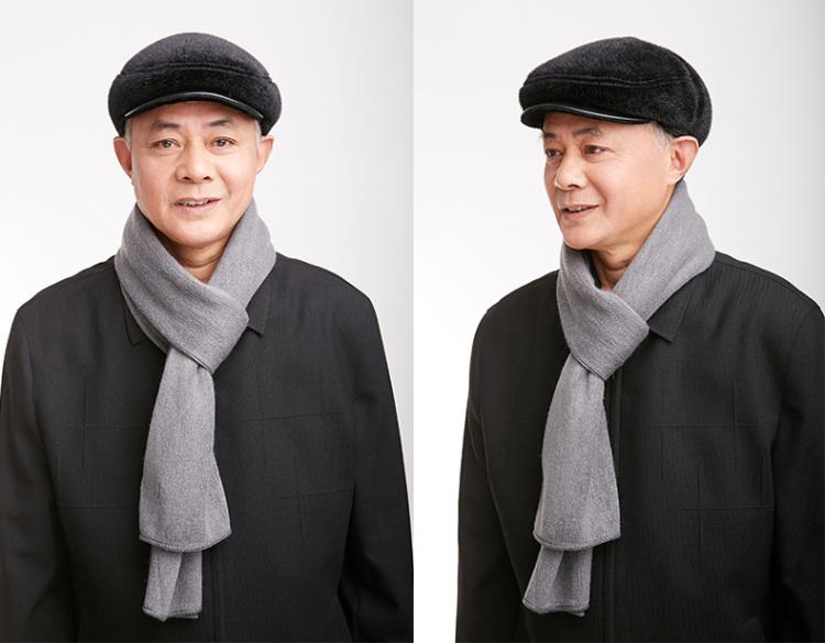 中老年帽子男冬天老人帽护耳帽加绒冬帽鸭舌帽