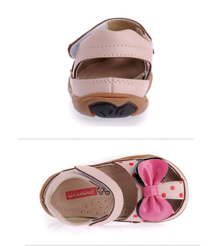 ucanuo2014新款儿童凉鞋女夏真皮包头沙滩鞋公主宝宝