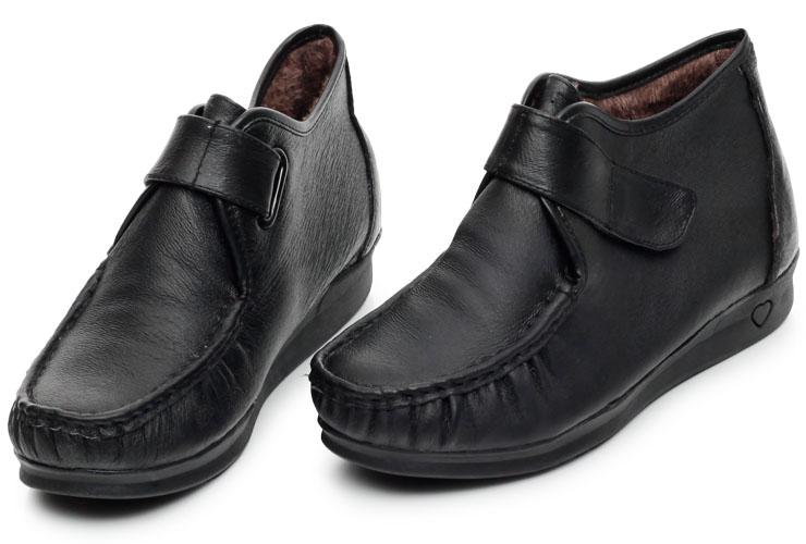 内联升女鞋猪皮女棉鞋