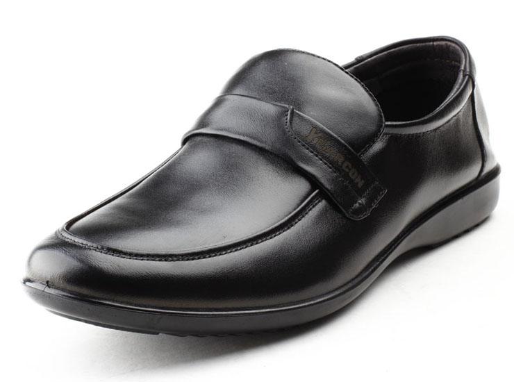 意尔康男鞋真皮商务休闲鞋牛皮套脚软底软面单层皮鞋