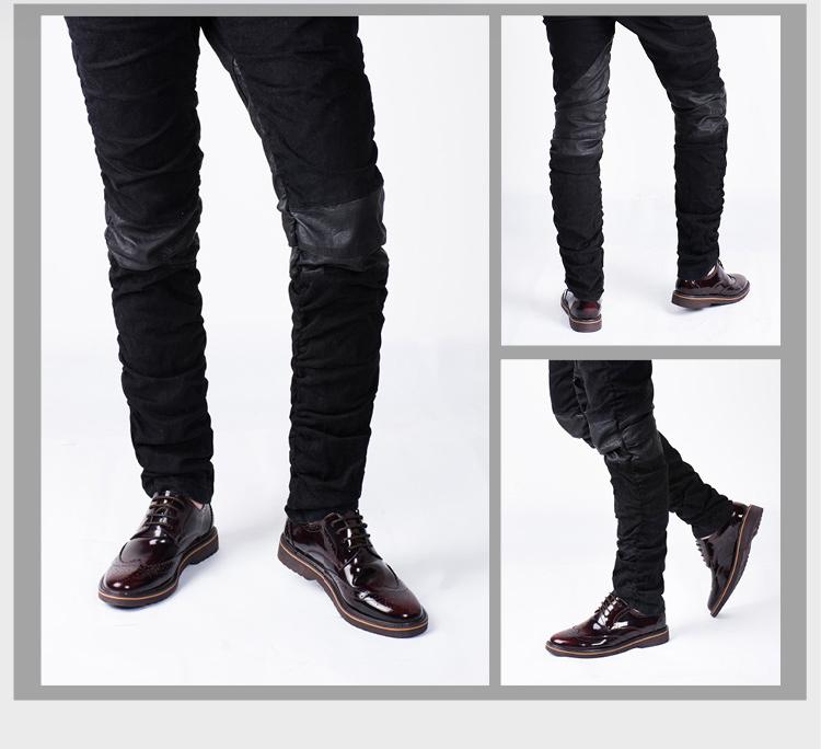 英伦男士时尚布洛克雕花商务皮鞋
