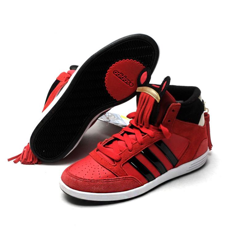 adidas阿迪达斯女鞋2014春季新款马年纪念款高帮休闲