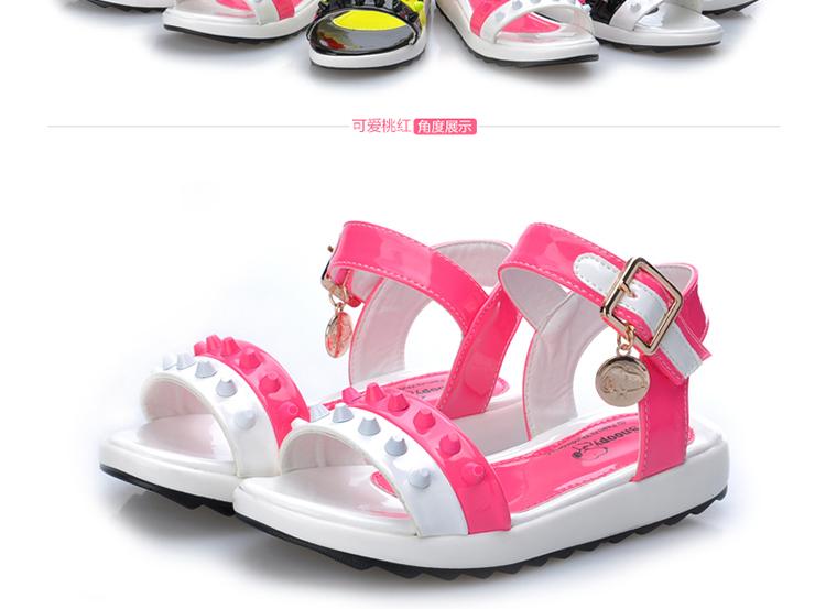 夏季儿童凉鞋 可爱蝴蝶结女凉鞋