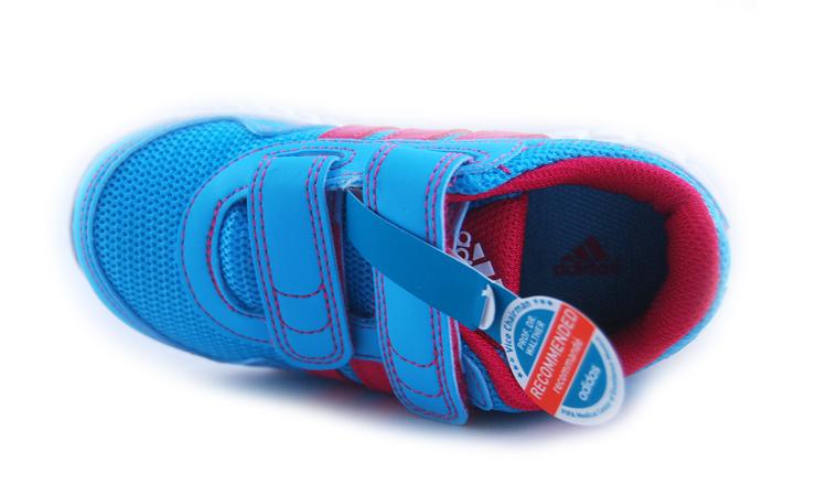 阿迪达斯adidas 2013年夏季新款女婴童魔术贴网面