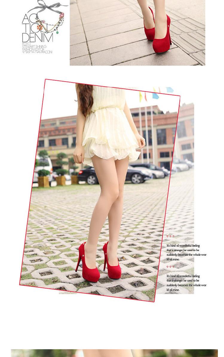 女士高跟鞋2014新款超高跟鞋