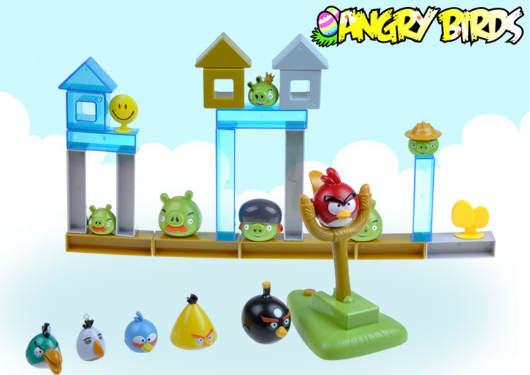 愤怒的小鸟玩具 实战弹射版