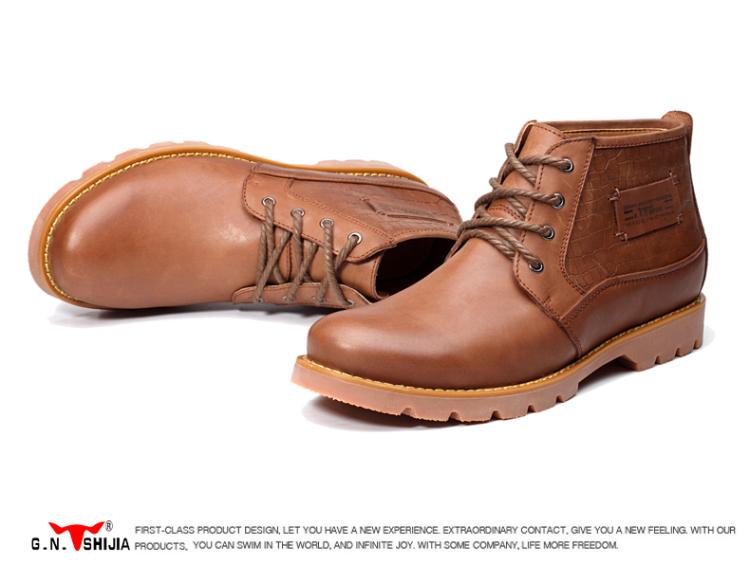 靴子韩版马丁靴潮流男靴英伦皮靴男士潮鞋