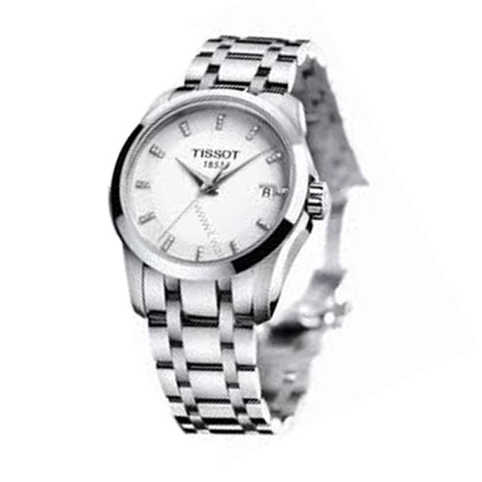 Tissot 天梭 女士石英手表 T0352101101600 白