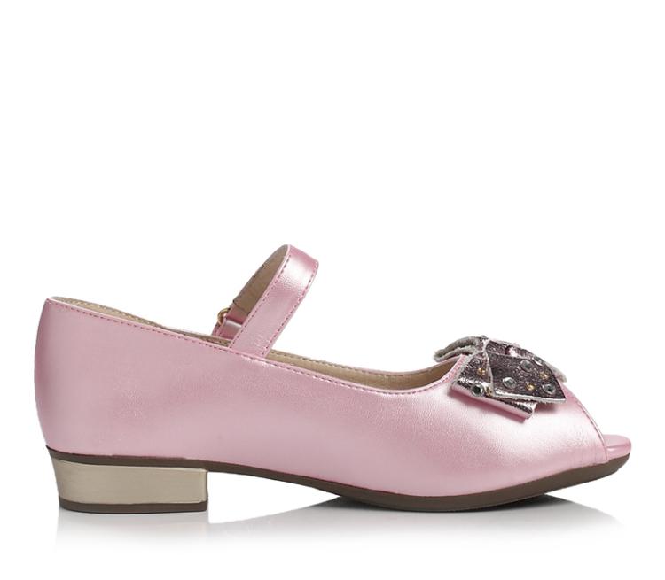 belle/百丽童鞋2014春季浅金pu女中童皮鞋浅口鞋