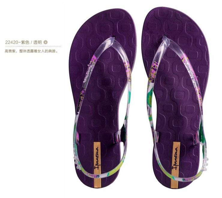 女款潮透明鞋带平底