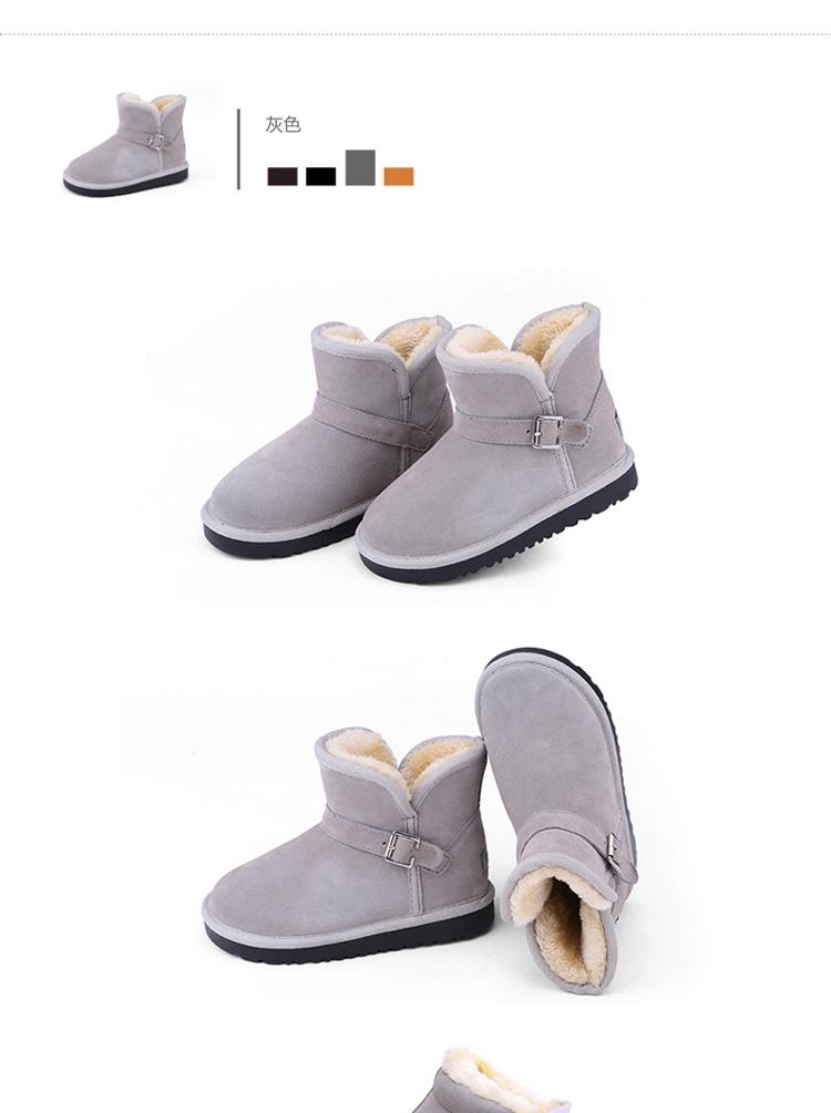 女童保暖冬靴子2013男童新款韩版真皮防水棉鞋