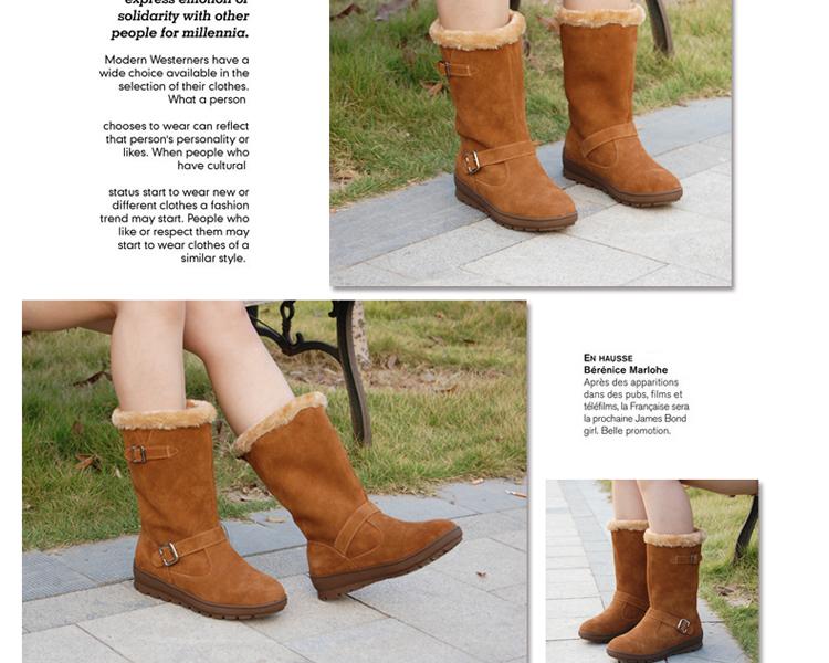 女士冬季短靴子_家具