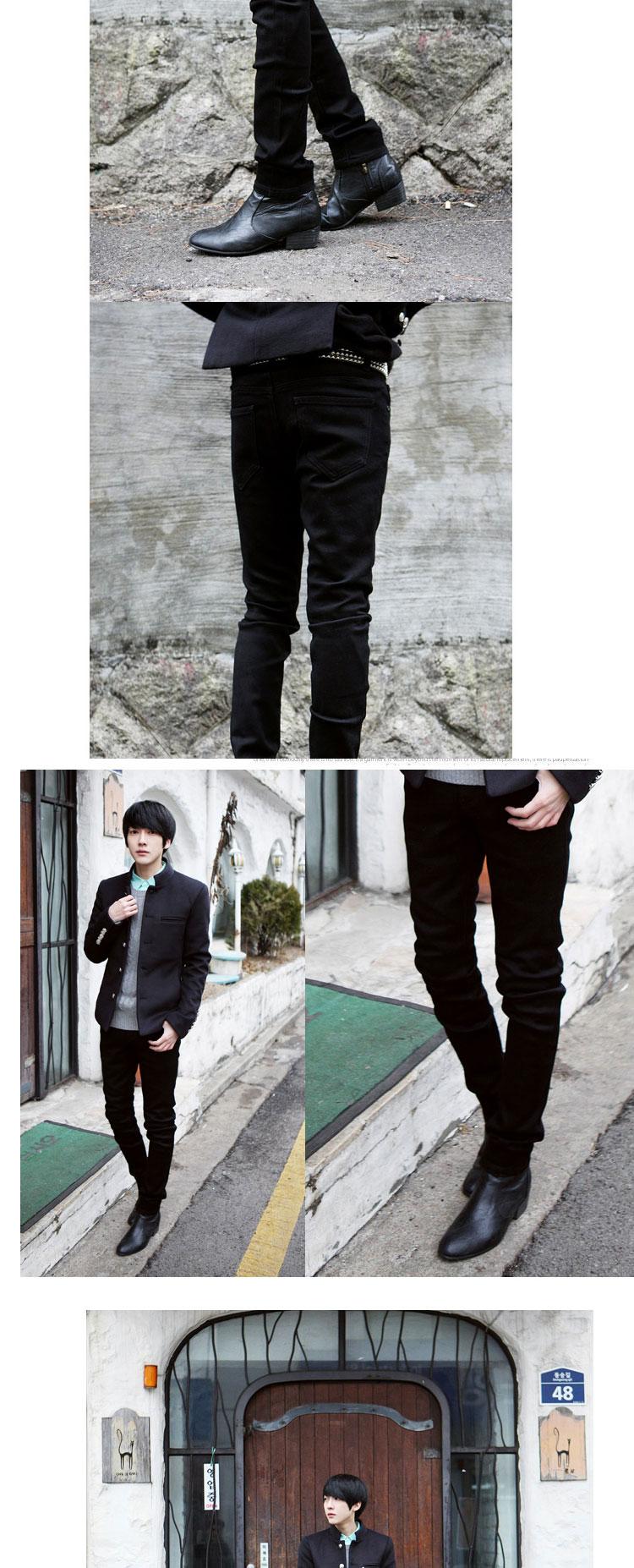 韩版修身时尚男士小脚裤铅笔裤