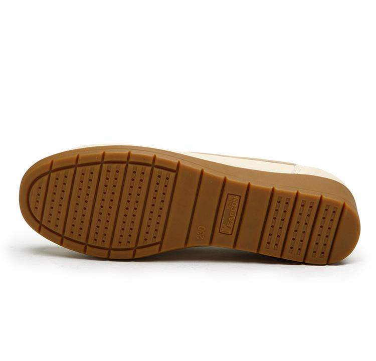 意尔康女鞋 秋冬新款真皮舒适豆豆鞋女单鞋3562zey