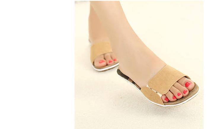 2014夏季新款韩版拖鞋平底鞋时尚居家日常舒适女拖鞋