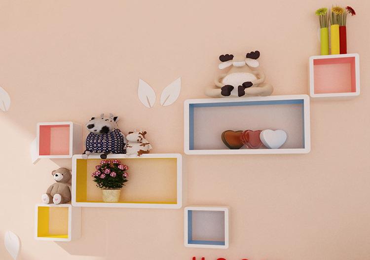 品字创意格子墙上隔板置物架