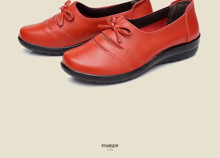 鞋子坡跟女士皮鞋休闲鞋