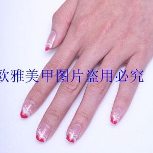 绘渐变指甲油 美甲用品拉线笔画花正品 法式指甲油 闪粉金银色 2号