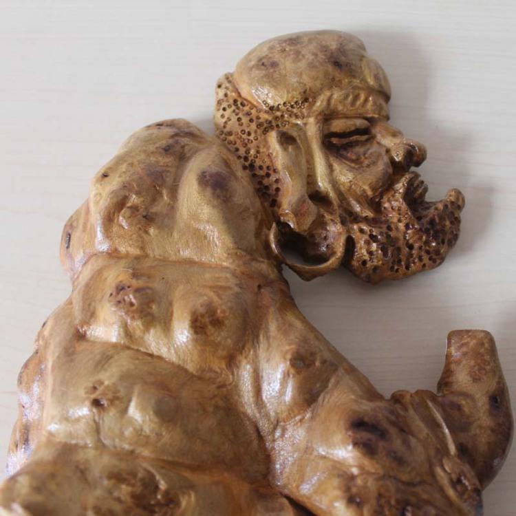 典艺阁原木自然树瘤根雕摆件 树根雕刻工艺品 黄金樟摆件