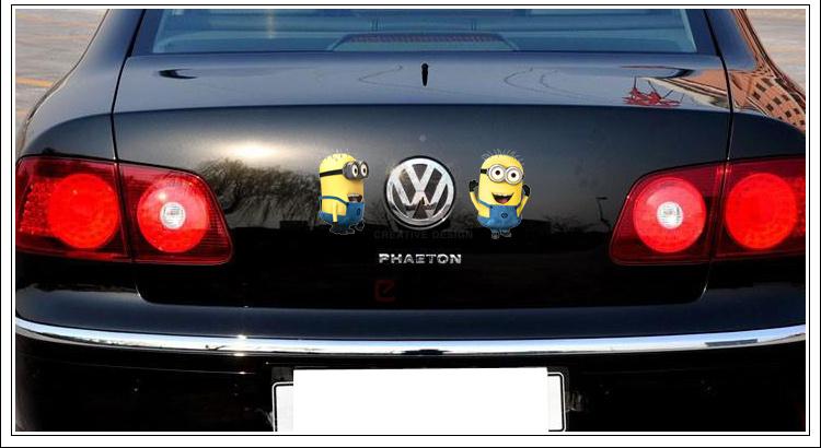 笑 卡通车 窗贴画汽车贴纸反光车身