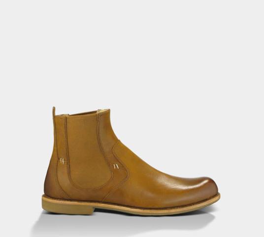 男生棕色鞋子搭配