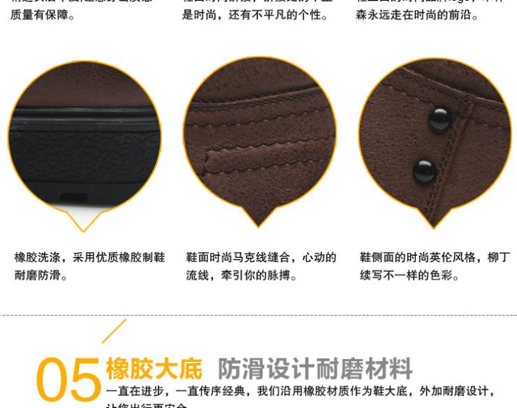 男式中年商务保暖棉皮鞋高档