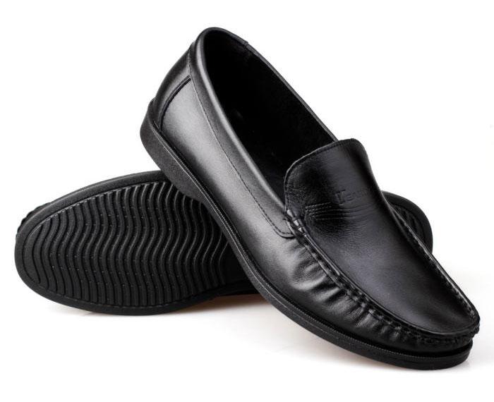 意尔康真皮商务休闲皮鞋软面男鞋透气懒人单鞋单层鞋