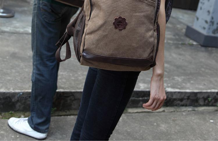 布双肩韩版旅行男女背书包