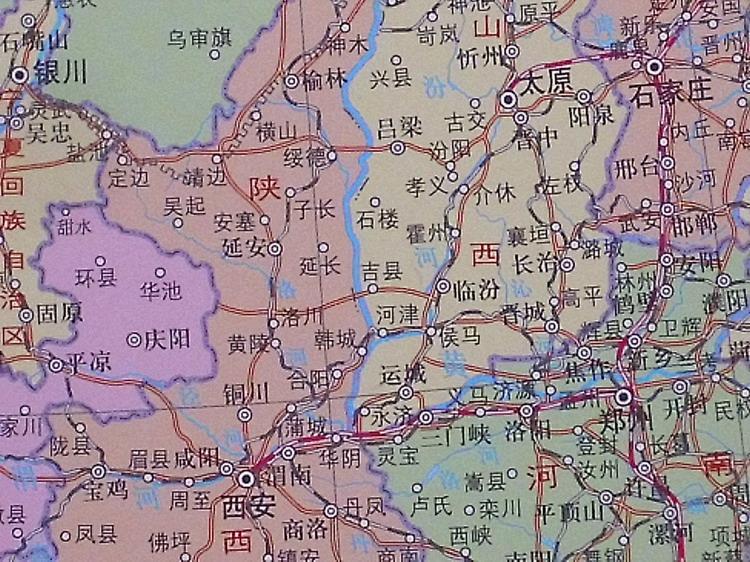中国地理地图 中国地图 竖版 中国地形图 桌面地图2013悬
