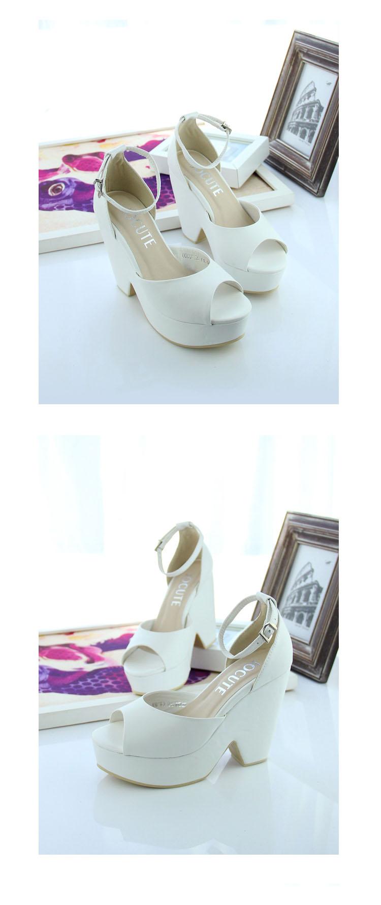 台松糕厚底女鞋