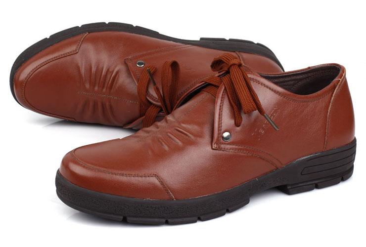 意尔康男鞋真皮头层牛皮鞋时尚商务低帮单鞋韩版潮流