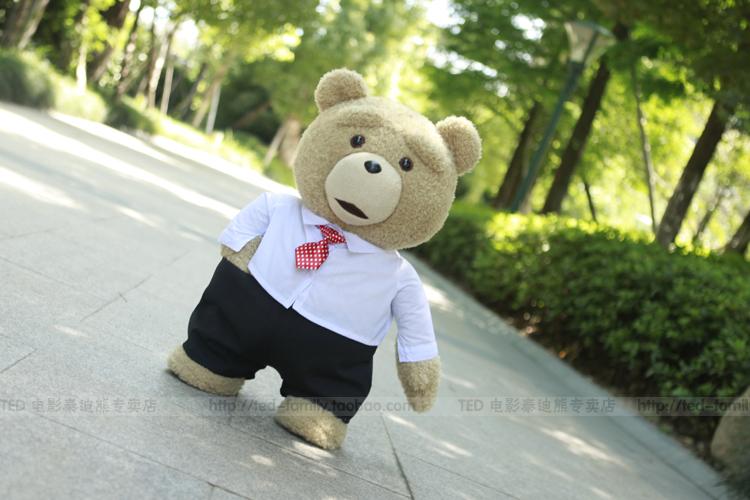 美国正版ted电影泰迪熊正品毛绒玩具娃娃抱抱