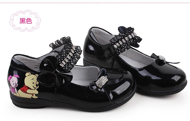 女童皮鞋学生黑色单
