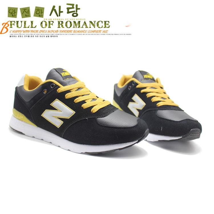 运动鞋休闲鞋防软底韩版潮流男款帆布鞋拼色n字款