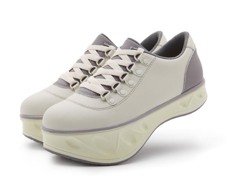 鞋平跟单鞋女平底鞋女单鞋松糕鞋摇摇鞋减肥鞋负跟鞋