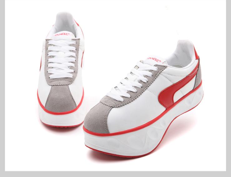 负跟鞋女腰椎夏坡跟单鞋女中跟女鞋单鞋摇摇鞋