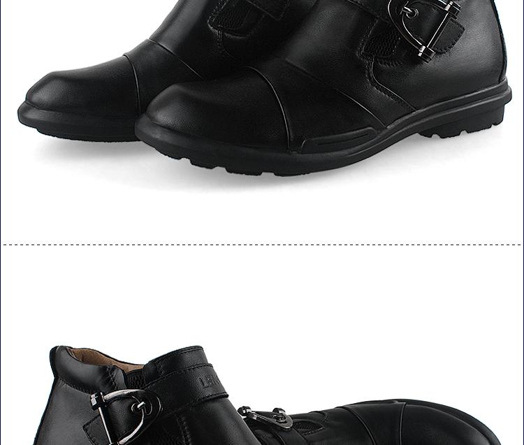 乐普狮冬季新品男士商务皮鞋棉靴真皮保暖防滑棉鞋男