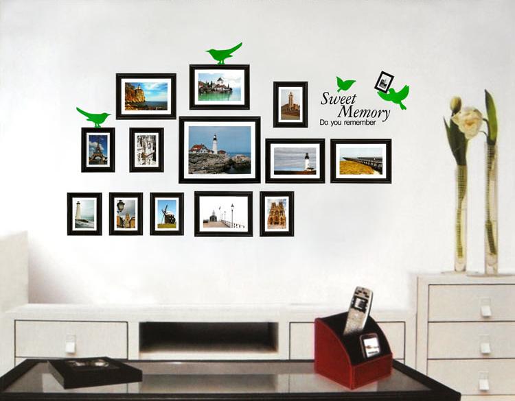 廊餐厅创意相框贴纸贴画 照片墙 PVC环保材质 温馨回忆 价廉物美
