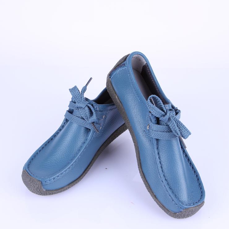 aicarolina艾罗莱2014春季新款牛皮休闲平底鞋深口鞋