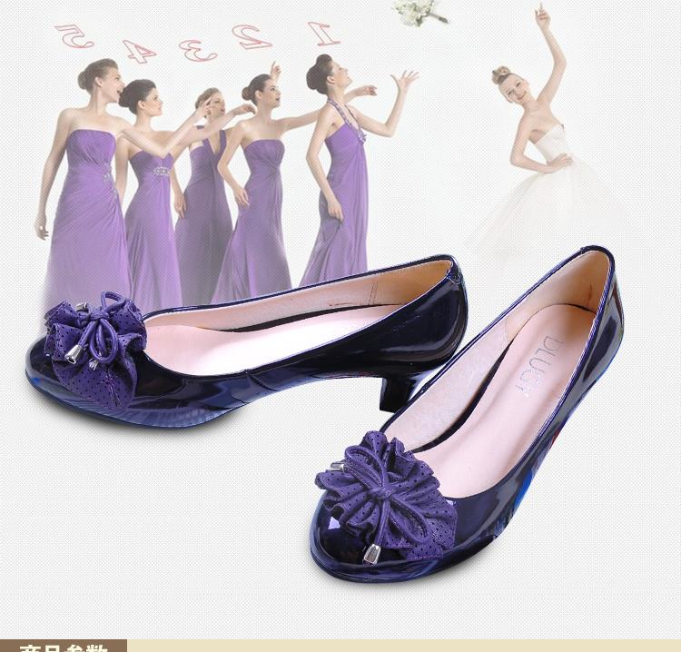 蝴蝶花中粗跟外贸厂家直供32码小码33至40大码女单鞋